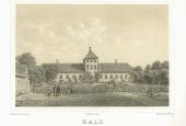 Tegning af Hald Hovedgård