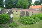 Gravsten på mosaisk begravelsesplads