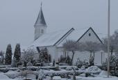 Themkirke i sne