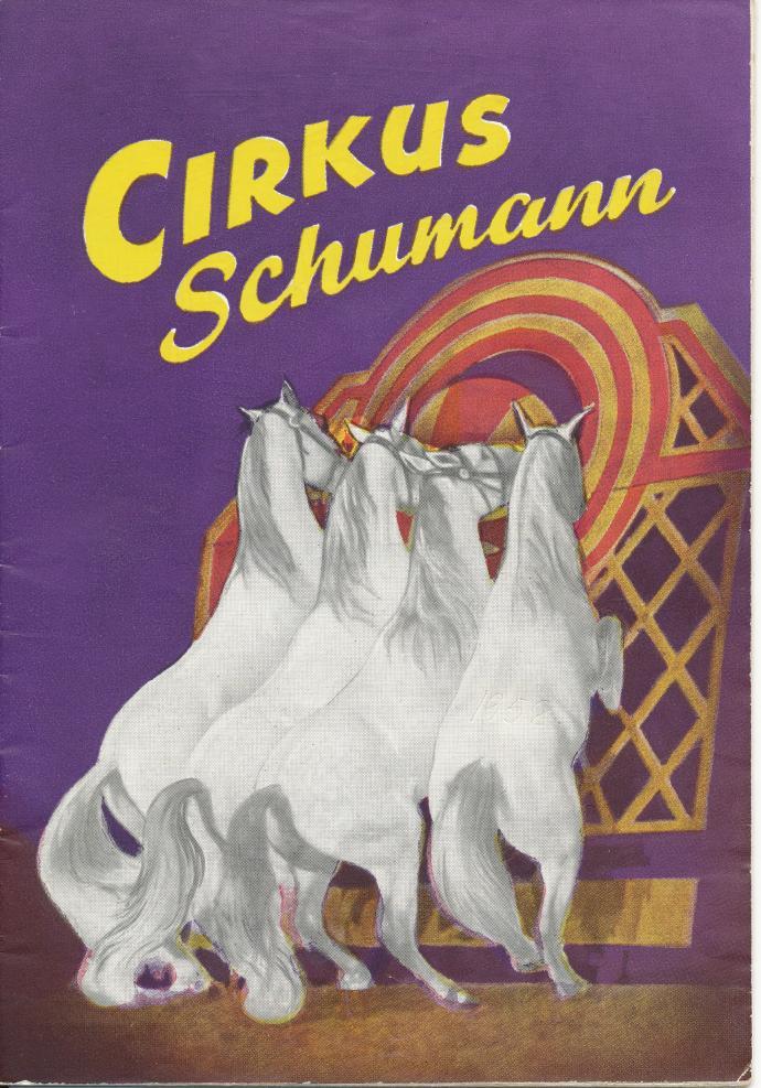 Programforside, Cirkus Schumann