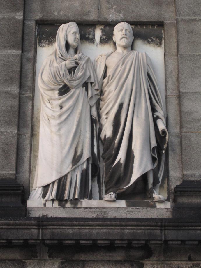 Relief depicting Ottlia and Carl Jacobsen