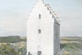 Den tilsandede kirke tårnet