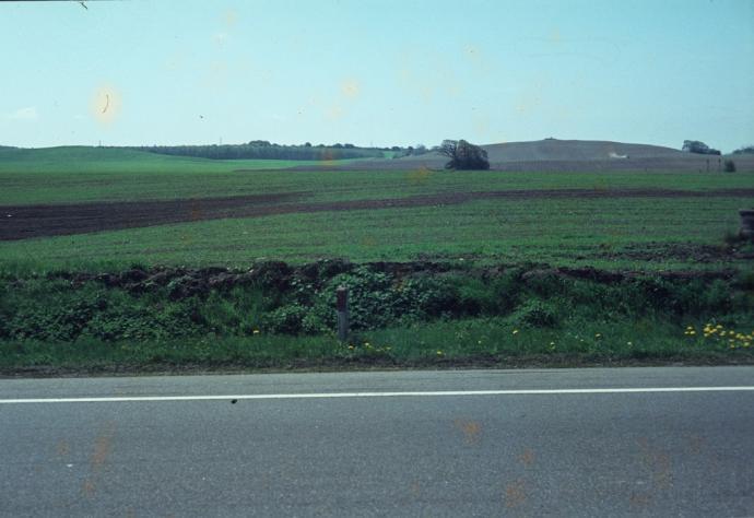 Birkendegård ses til højre