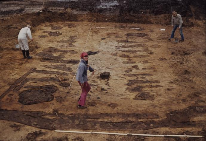 Hodde udgravning af jernalderhus