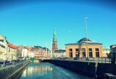 Thorvaldsens Museum, Slotsholmen, København og forår.