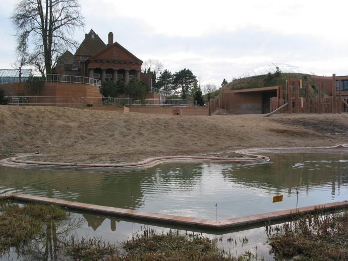The elephant's house in Copenhagen Zoo
