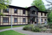 Ældre hus der står ved Silkeborg bad