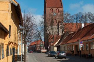 Køge Kirke set fra afstand