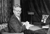 Trotskij i Købmagergade den 27. november 1932