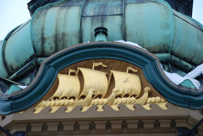 Kiosken på Kgs Nytorv, skibs udsmykning