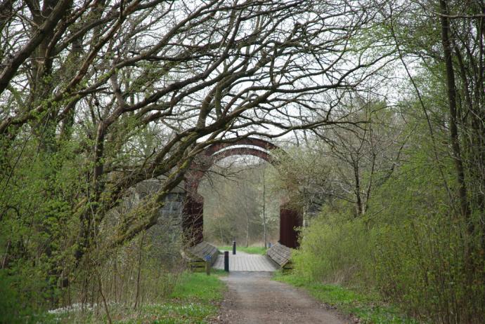 Langåbroen set fra vej