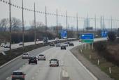 Krydset mellem Holbækmotorvej og Motorring 3 biler