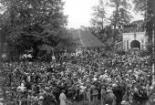 Trængsel på Landsoldatpladsen i 19924