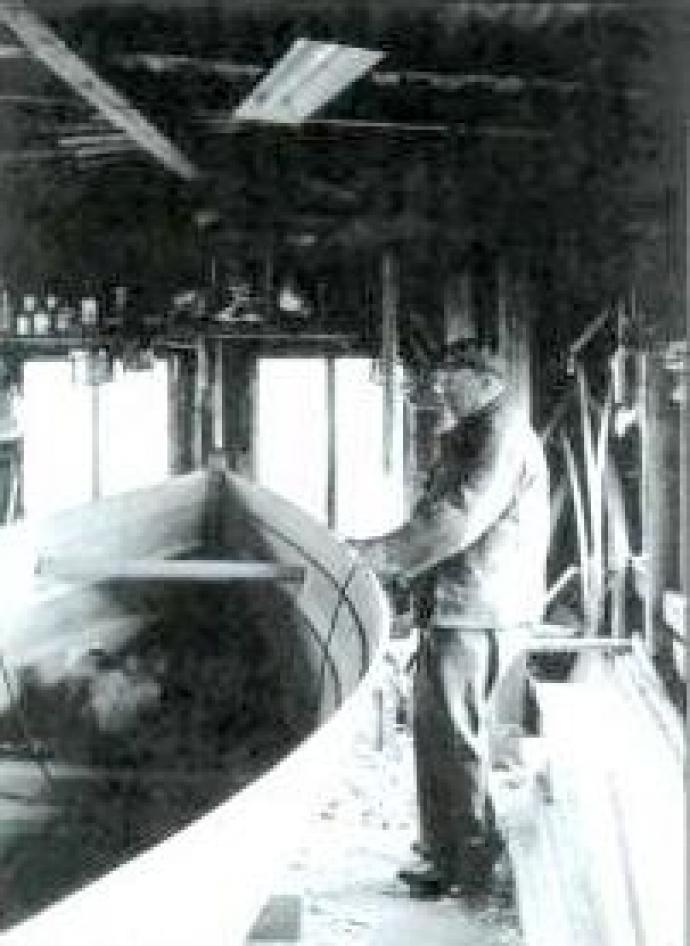 Bådebyggeren på værkstedet