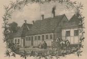"""""""Mit Barndoms Hjem"""", træsnit i Søndags-Posten den 4. april 1875"""
