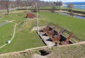 Haubits-batterierne på Charlottenlund Fort