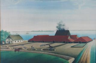 Cathrinesminde Teglværk ca. 1860