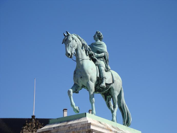 Saly's equestrian statue