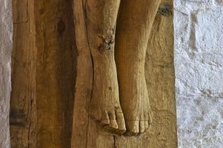 "Astrid Noacks ""Det korsfæstede menneske"" på Løgumkloster Refugium"