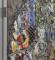 Detalje fra Asger Jorns relief på Århus Statsgymnasium