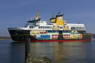 Randi & Katrine's decoration of the Ærø Ferry