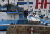 """Elmgreen & Dragsets """"Han"""" på sin havnemole i Helsingør"""