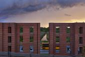 Per Kirkeby's brick sculpture in Ørestaden