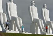 "Svend Wiig Hansen's ""Man by the Sea"" outside Esbjerg"