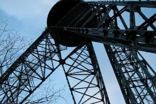 Himlen over Aalborg - set fra Aalborgtårnets fod