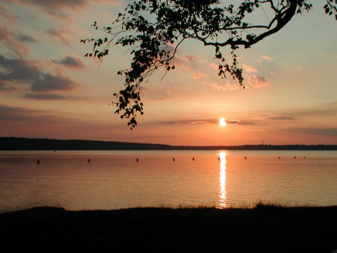 Solnedgang over Furesøen