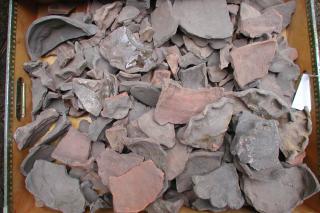 Skår af middelalderkeramik