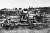 Preussiske soldater i Dybbøl Skanser, d. 19. april 1864