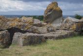 Ruin af dansk krudtmagasin på Dybbøl Banke.