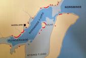 kort over fjorden