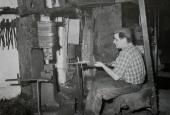 Arbejde ved fjederhammeren