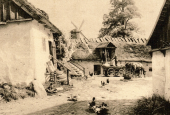 Blåbæk Mølles gårdsplads ca. 1910
