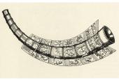 Kobberstik med gengivelse af det første guldhorn