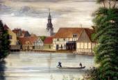 Gammel Mølle, malet af vinhandler Bock