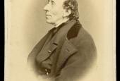 H.C. Andersen, fotografi af Carl Bech under æresborgerfestlighederne i Odense i december 1867