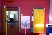 Poul Gernes' udsmykning af en af de sydvendte sengestuer på Herlev Hospital
