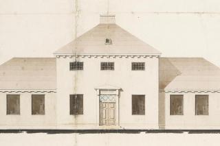 Høng Ting- og Arresthus, Org. tegning