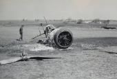 Ødelagt dansk militærfly