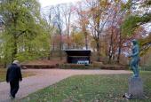 Musikpavillon og skulpturen Vandpigen på Borgvold