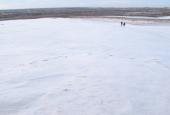 frozen moving dune
