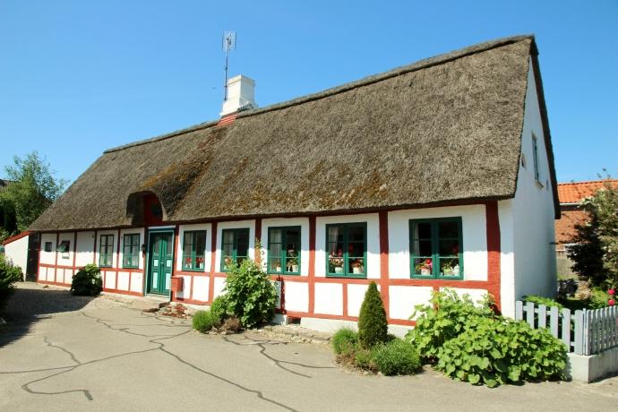 Et af de gamle huse i Norby