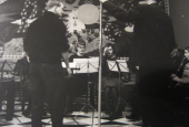 Radiooptagelse i Risskov skoles musiklokale og festsal