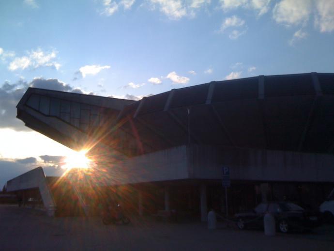 Auditorium ved indgangen til Herlev Hospital