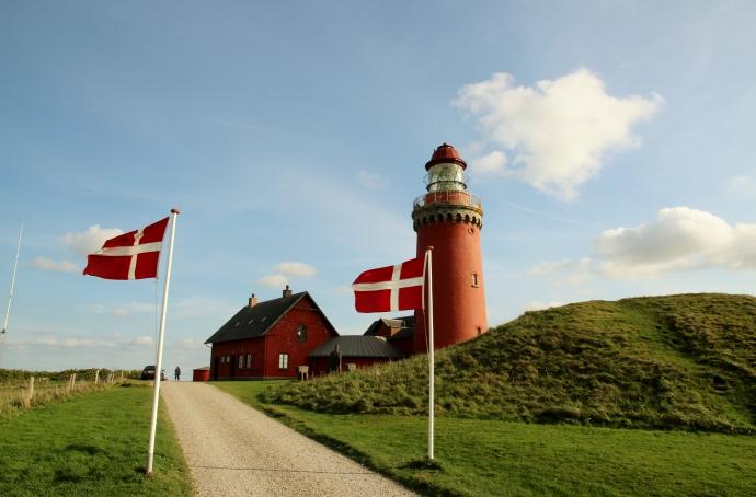 Med flag