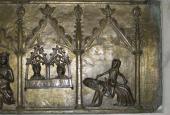 Sorø Klosterkirke, Christoffer II's gravmæle, detalje