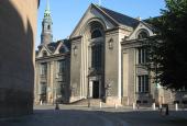 Frue Plads med Mallings universitetsbygning